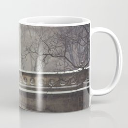 Couple in the Snow in Central Park Coffee Mug