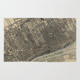 Vintage Map of Detroit Michigan (1904) Rug