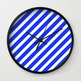 Basic Stripes Blue Wall Clock