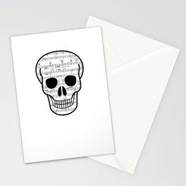 Music Skull Stationery Cards