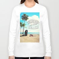 500 days of summer Long Sleeve T-shirts featuring Summer Days by Nicklas Gustafsson