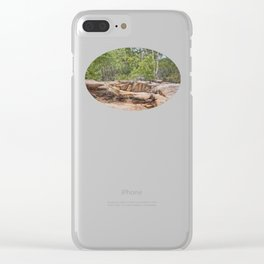 Peace among the rocky surrounds. Clear iPhone Case