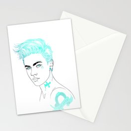 Unlucky, Blue Stationery Cards