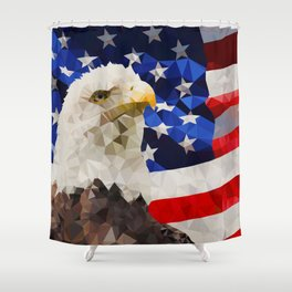 American Eagle and Flag Shower Curtain