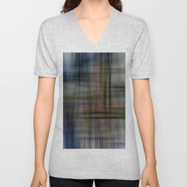 Deconstructed Abstract Scottish Plaid Pattern Unisex V-Neck