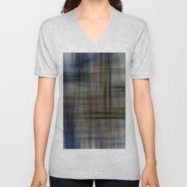 Deconstructed Abstract Scottish Plaid Pattern Unisex V-Neck