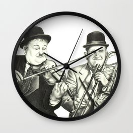 Laurel and Hardy Wall Clock