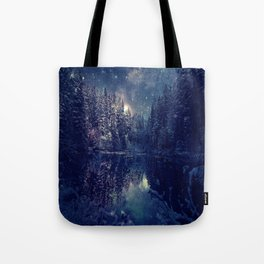 Winter Forest Deep Pastel Tote Bag