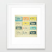 pastel Framed Art Prints featuring All Tomorrow's Parties by Cassia Beck