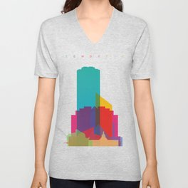 Shapes of Edmonton Unisex V-Neck
