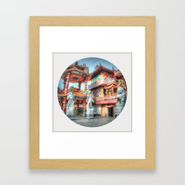 Chinese Temple (Circle) Framed Art Print