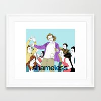 shameless Framed Art Prints featuring shameless by illustratemyphoto