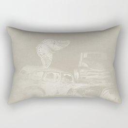 cars in secret forest Rectangular Pillow