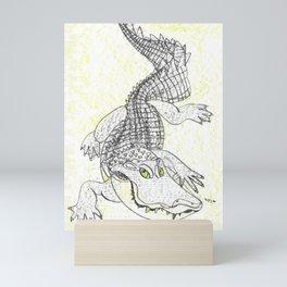 Smiling Gator Mini Art Print