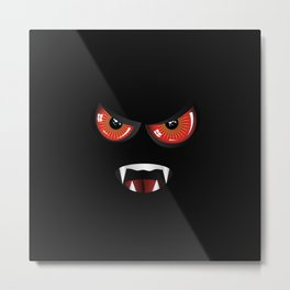Evil face with red eyes Metal Print