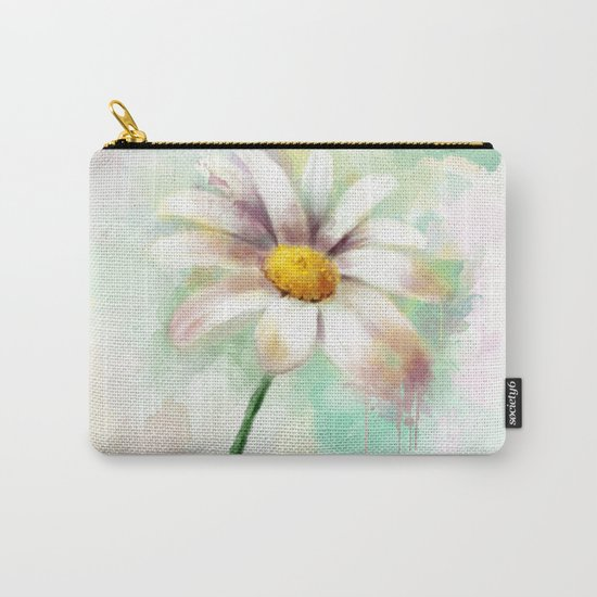 Daisy watercolor - flower illustration Carry-All Pouch