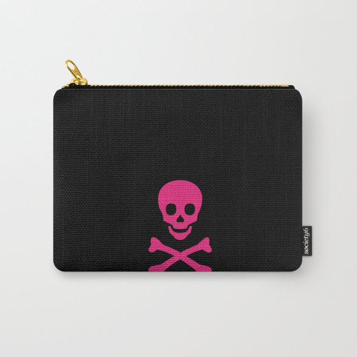 BLACK & HOT PINK SKULL Carry-All Pouch