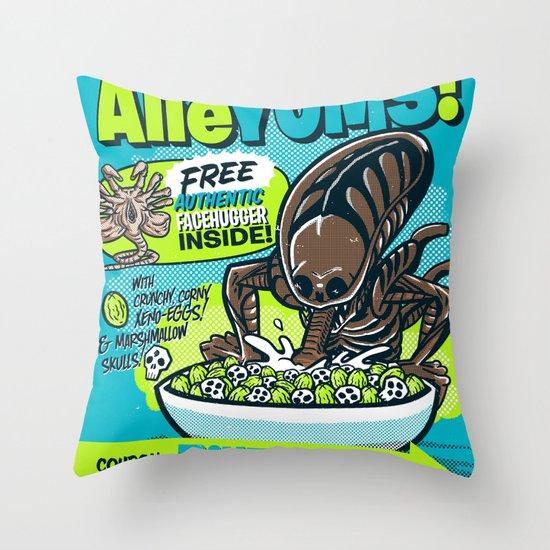 AlieYUMS! (blue variant) Throw Pillow
