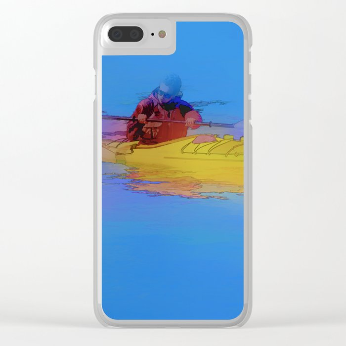 Touching Heaven    -   Kayaker Clear iPhone Case