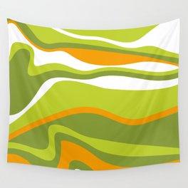 Pesto Orange and green Wall Tapestry