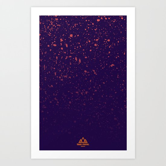 Trail Status / Purple Art Print