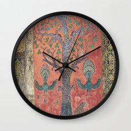 Tree of Life Mosaic Buddist temple, Laos Wall Clock
