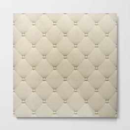 Cream Quilted Metal Print