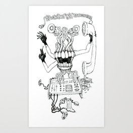 Blackhand Art Print