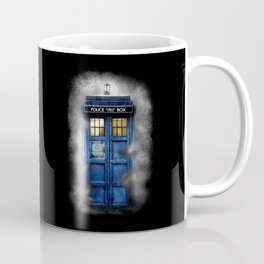 Haunted Halloween Blue phone Box Coffee Mug
