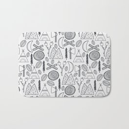 Camping Adventure in Black Bath Mat