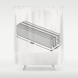 Life is short but deep Shower Curtain