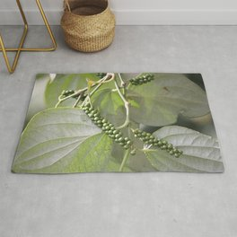 Green Pepper plant Illustration Rug