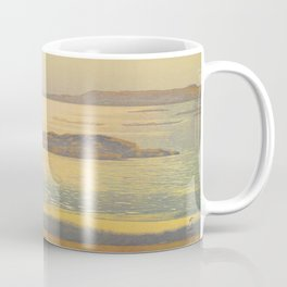 Ohara Beach Hiroshi Yoshida Modern Japanese Woodblock Print Coffee Mug