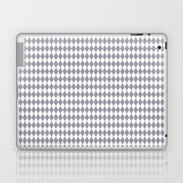 Pantone Lilac Gray Rippled Diamonds, Harlequin, Classic Rhombus Pattern Laptop & iPad Skin