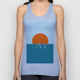 Minimal regatta in the sun Unisex Tank Top