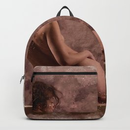 Nude woman watercolor vintage Backpack