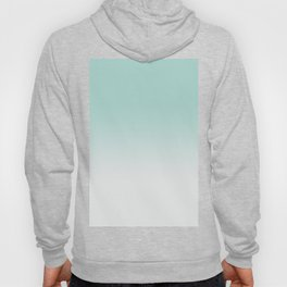 Ombre Duchess Teal and White Smoke Hoody