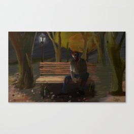 Zombie in the Park Canvas Print