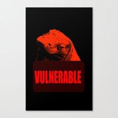 Vulnerable Komodo Dragon Canvas Print