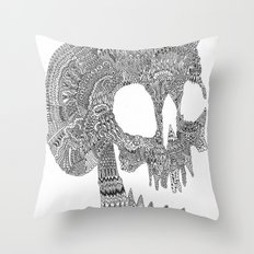 Skull Party Throw Pillow