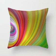 Vivid space Throw Pillow