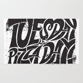 Tuesday is Pizza Day Rug