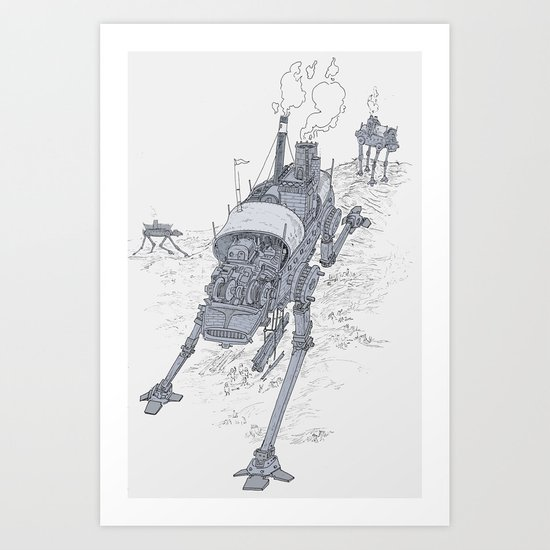 an even longer time ago Art Print