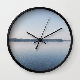 Bird Flying Over Serene Lake Barkley Wall Clock