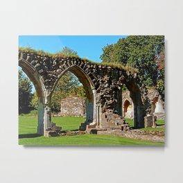 Hailes Abbey ruins. Metal Print