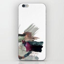 Begin [3]: a minimal abstract mixed media piece iPhone Skin