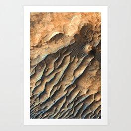 Mars - Sandstone in West Candor Chasma Art Print