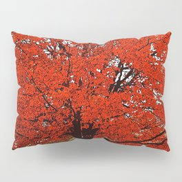 TREES RED Pillow Sham