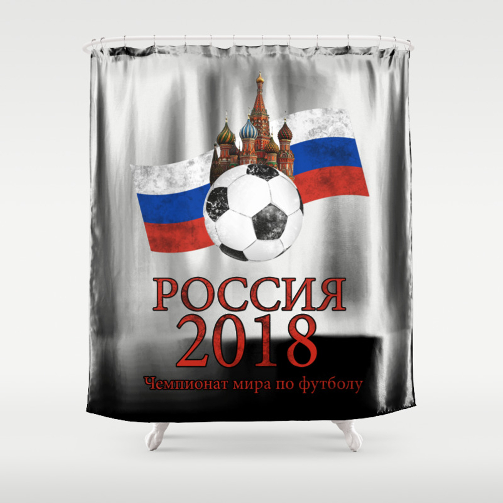Russia Football World Cup Shower Curtain by Valentinahramov CTN8960069