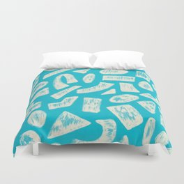 Shapes 1958 Drawing Duvet Cover